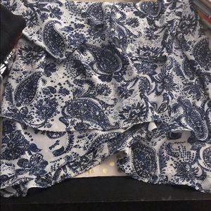 The Limited Tops - Blue/white paisley blouse